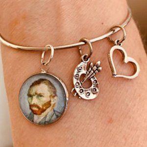 Van Gogh Self Portrait Bangle Bracelet